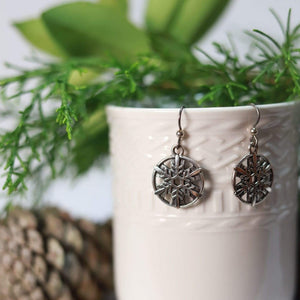 Pewter Antique Snowflakes