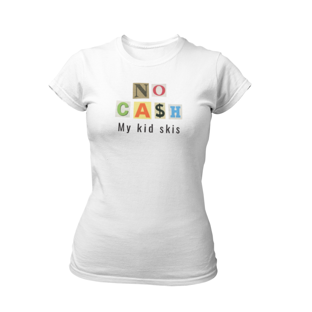 Ski T-shirt No Cash Kids Skis