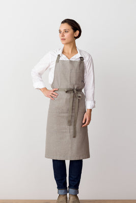 Classic Chef Apron, Tan with Tan Straps, Men or Women