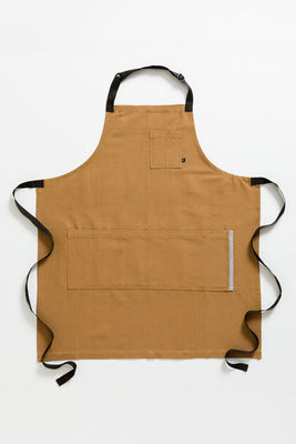 Classic Chef Apron, Ochre with Black Straps, Men or Women