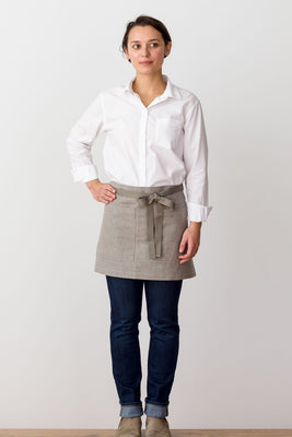 Bistro Shorty Apron Tan with Tan Straps, for Men or Women