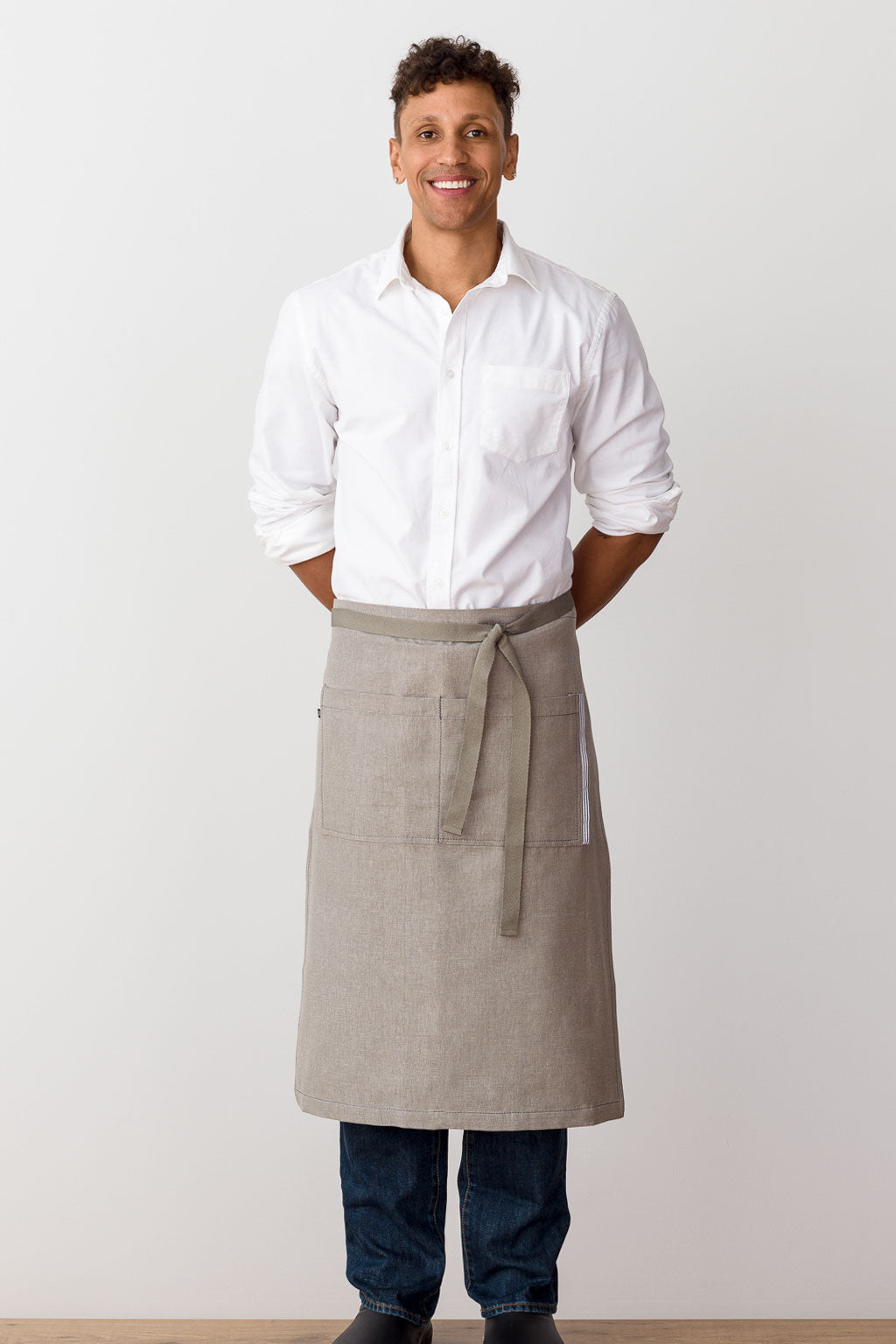 Bistro Longy Apron Tan with Tan Straps, for Men or Women