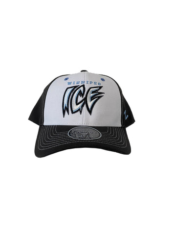 Adult Hat | Winnipeg + ICE Wordmark | White & Grey
