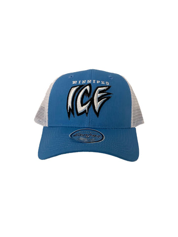 Adult Hat | Winnipeg + ICE Wordmark | Blue & White