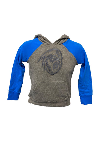 Youth Hoodie | Tonal Grey Yeti | Grey & Blue