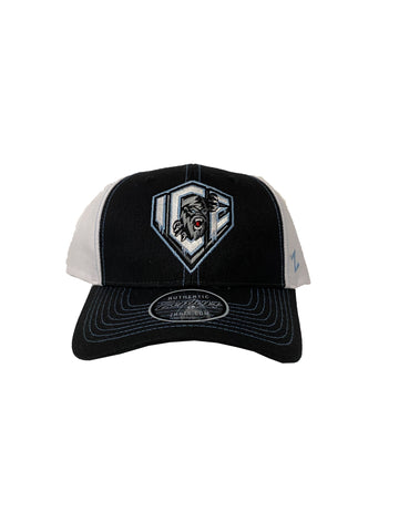 Adult Hat | Dark Shield | Black & White