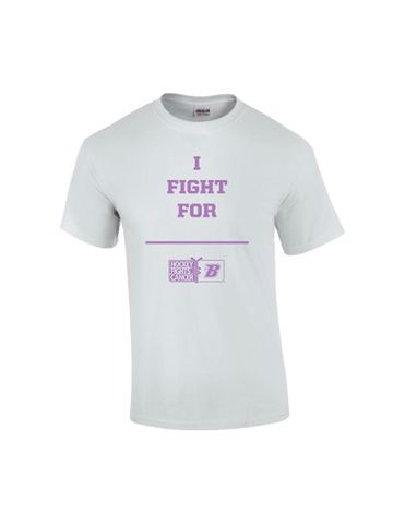Men's T-shirt | Blues x Hockey Fights Cancer | White