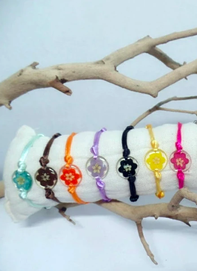Elder Flower Bracelet - Adjustable bracelet - Choose your color