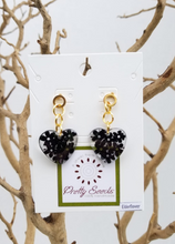 Load image into Gallery viewer, Elderberry Flower - Heart Shape Earrings - Choose your color
