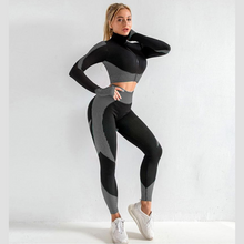 Load image into Gallery viewer, Grey Supreme Long Sleeve Set | Daniki Limited