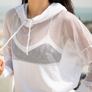 White Mesh Pullover Top | Daniki Limited