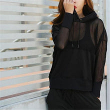 Load image into Gallery viewer, Black Mesh Pullover Top | Daniki Limited