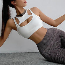 Load image into Gallery viewer, White Crosscut Sports Bra | Daniki Limited