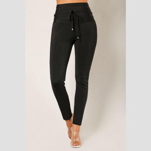 Black Elegant High Waisted Pants | Daniki Limited
