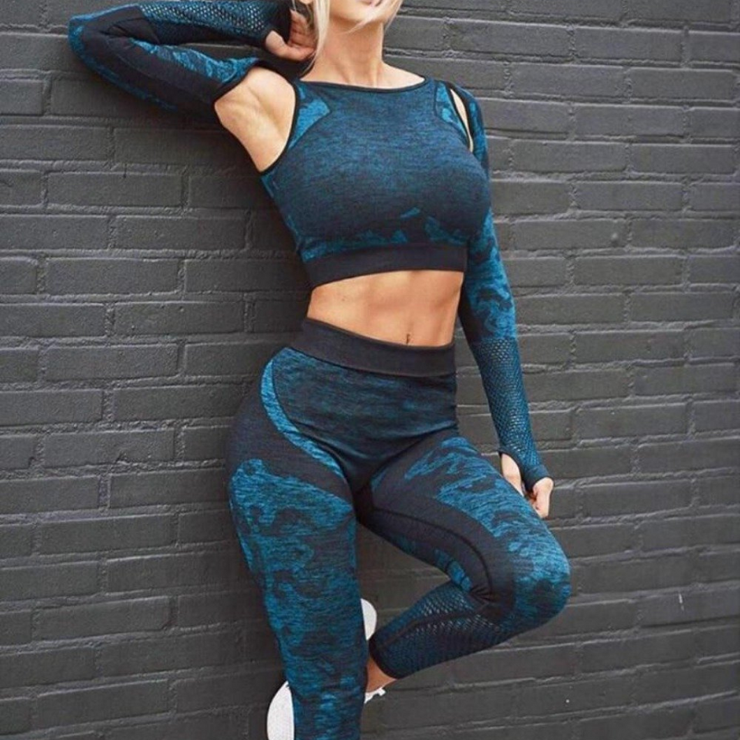 Blue Cool Camo Fitness Set | Daniki Limited