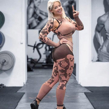 Load image into Gallery viewer, Camel Cool Camo Fitness Set | Daniki Limited