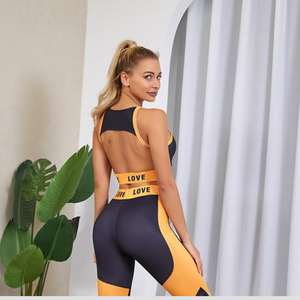 Blue/Yellow Chic Fitness Set | Daniki Limited