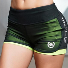 Load image into Gallery viewer, Green Compression Mesh Fitness Shorts | Daniki Limited