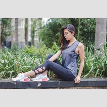 Load image into Gallery viewer, Grey Sleeveless Fitness Top | Daniki Limited