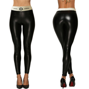 Black Letter Belt Leggings | Daniki Limited