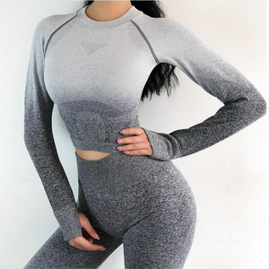 Gray Long Sleeve Ombre Set | Daniki Limited