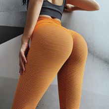 Load image into Gallery viewer, Orange Stripe Scrunch Leggings | Daniki Limited