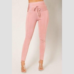 Pink Elegant High Waisted Pants | Daniki Limited