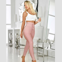 Load image into Gallery viewer, Pink Elegant High Waisted Pants | Daniki Limited
