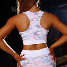Load image into Gallery viewer, Pink Mesh Camo Fitness Set | Daniki Limited
