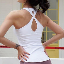 Load image into Gallery viewer, White Cross Back Fitness Top | Daniki Limited