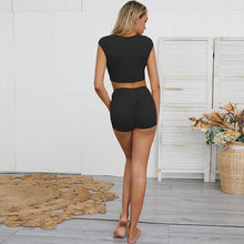 Load image into Gallery viewer, Black Scrunch Fitness Shorts | Daniki Limited
