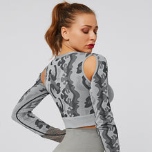 Load image into Gallery viewer, Grey Mesh Camo Fitness Top | Daniki Limited