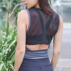 Grey Sleeveless Fitness Top | Daniki Limited