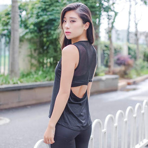 Black Sleeveless Fitness Top | Daniki Limited