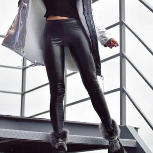 Black Classic PU Leather Leggings | Daniki Limited