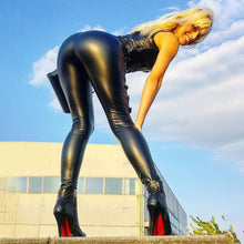 Load image into Gallery viewer, Black Classic PU Leather Leggings | Daniki Limited