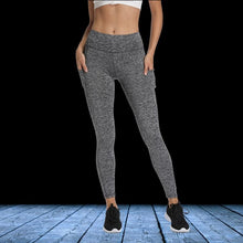 Load image into Gallery viewer, Grey Solid Pocket Leggings