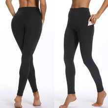 Load image into Gallery viewer, Black Solid Pocket Leggings