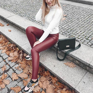 Red Mid-Waist Shiny | Daniki Limited
