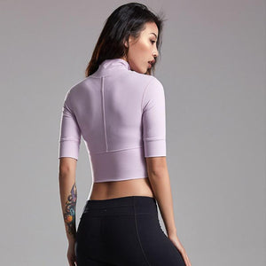 Purple Zipper Crop Top | Daniki Limited