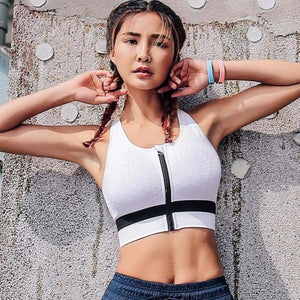 White Embrace Sports Bra | Daniki Limited