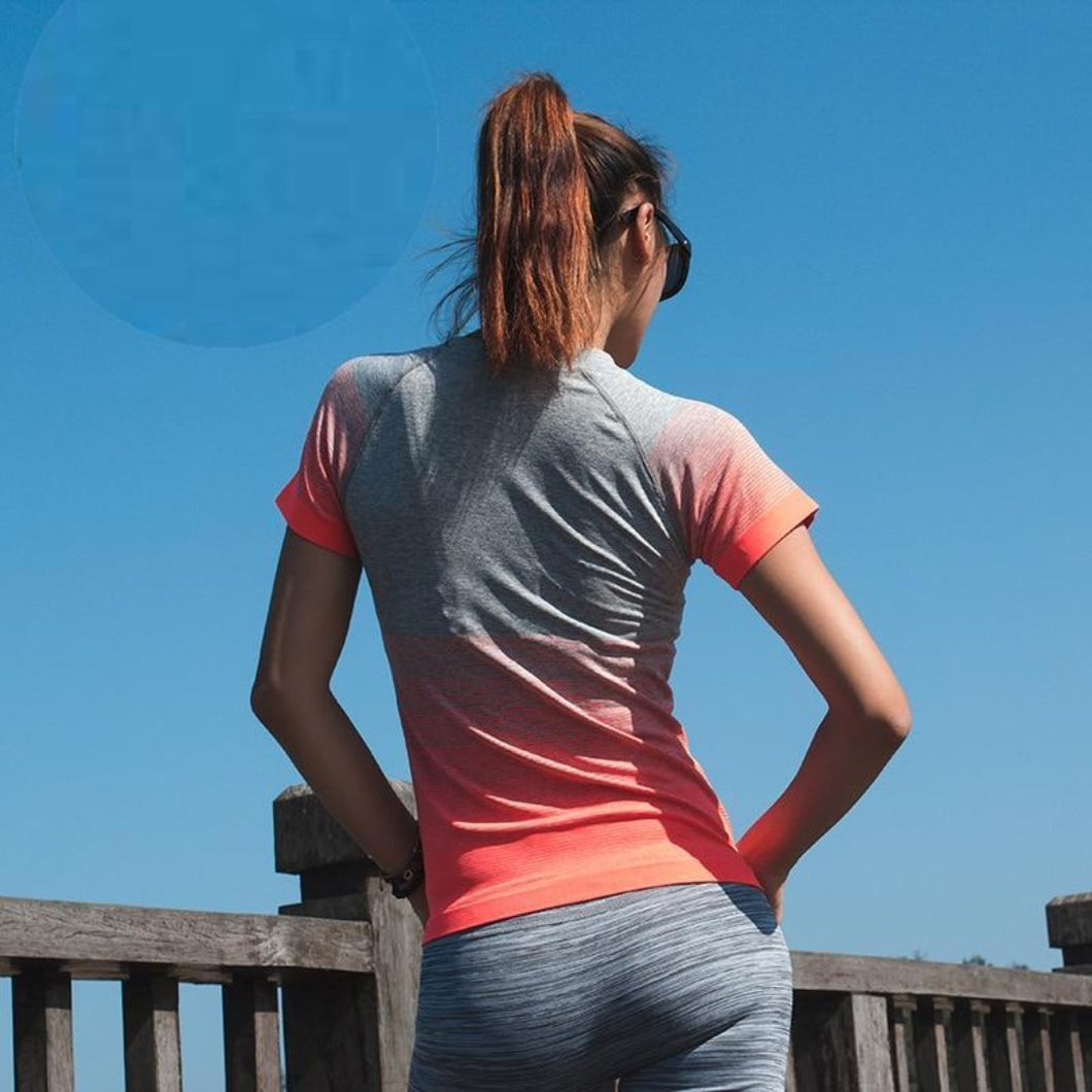 Orange Ombre Fitness Top | Daniki Limited