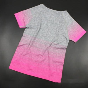 Pink Ombre Fitness Top | Daniki Limited