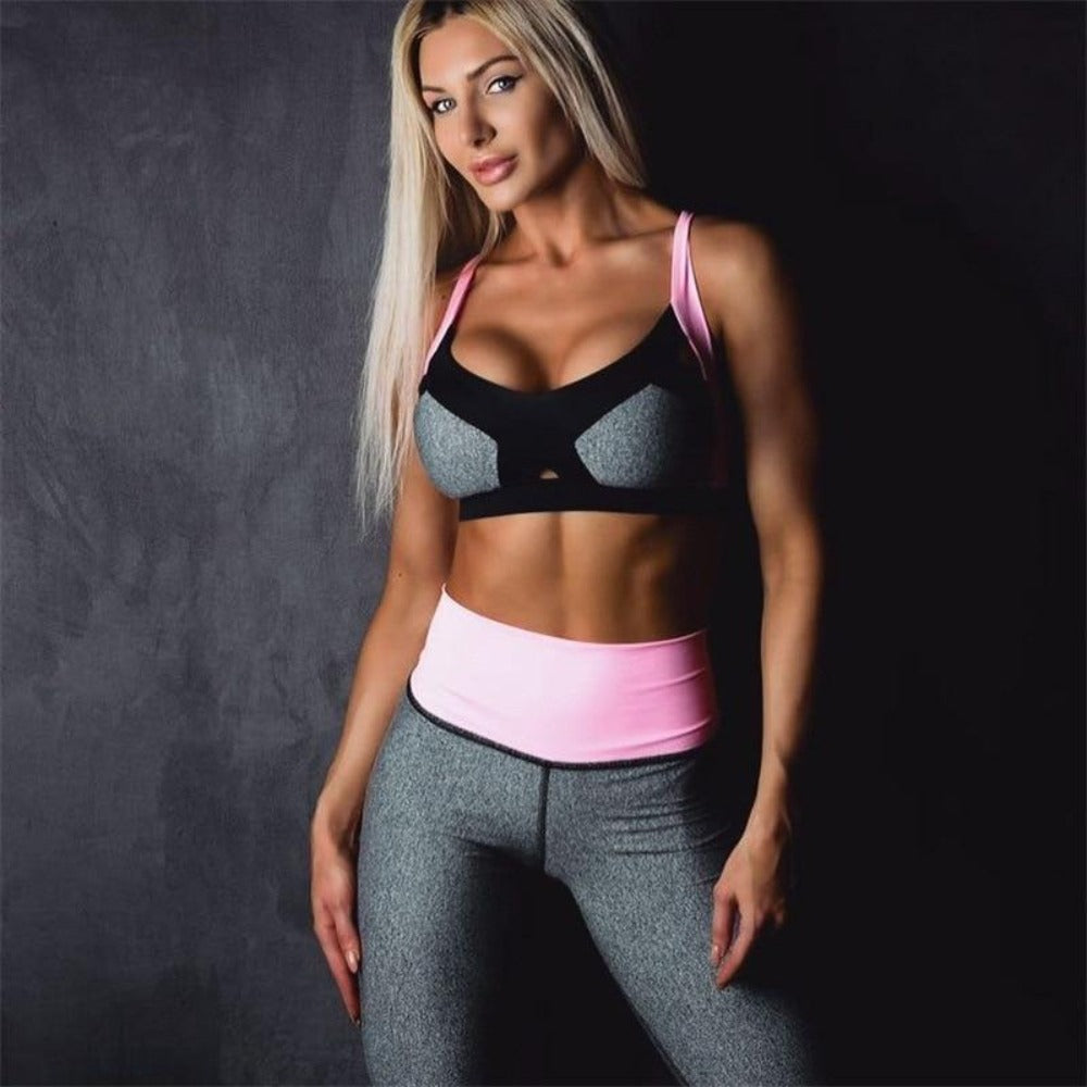 Pink/Gray Push Up Fitness Set | Daniki Limited
