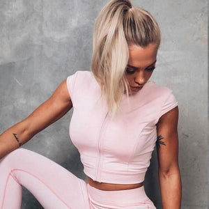 Pink Zipper Vest Top | Daniki Limited