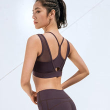 Load image into Gallery viewer, Purple Sweet Mesh Sports Bra | Daniki Limited