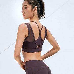 Purple Sweet Mesh Sports Bra | Daniki Limited