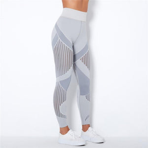 Light Grey Webbed Mesh Leggings | Daniki Limited