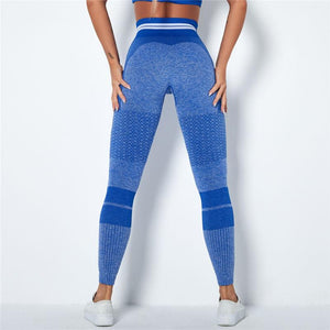 Blue Stripe Band Leggings | Daniki Limited