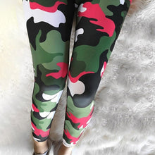 Load image into Gallery viewer, Red Camouflage Leggings | Daniki Limited